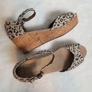 TOMS Snow Leopard Wedge Sandal